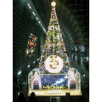 京都駅のイルミネーション点灯