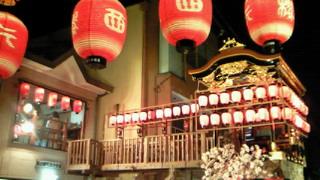 大津祭の宵宮に、青少年の祭囃子が響いて