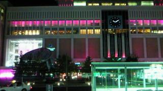 札幌駅はフューシャピンク
