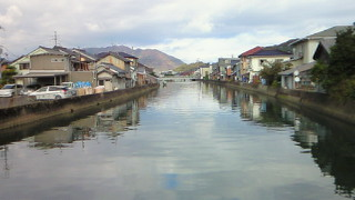 西舞鶴の川端風景