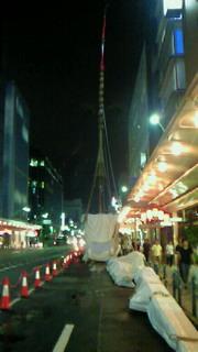 祭の後のスケルトンな山鉾