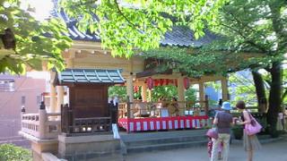 高津宮夏祭りのクライマックス待ちの時間に寄った