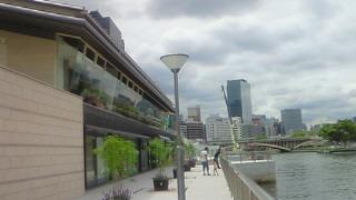 天満橋にオープンした川の駅八軒家