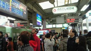 この浜大津駅の混雑はなんでしょ
