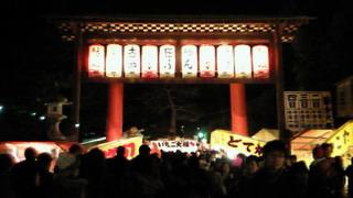 節分前夜の吉田神社とか、聖護院とか
