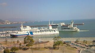 琵琶湖にも春の気配