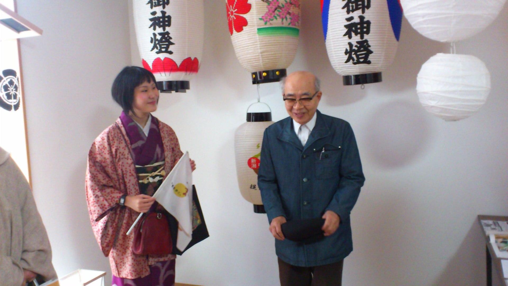 ふだんぎ着物で、仏光寺周辺の和モノ屋めぐり まいまい京都さんのまちあるきに参加してきました