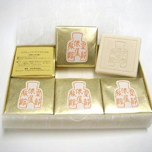 「イチオシ京のおみやげ情報」ギャラリー遊形のSavon de Tawaraya<br />   旅館俵屋で使われている石鹸です。