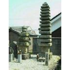 中将姫の墓塔に墓参
