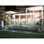京都芸術博物館前のカフェテラス